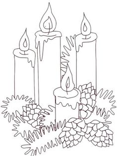 Drawn candle christmas candle #5