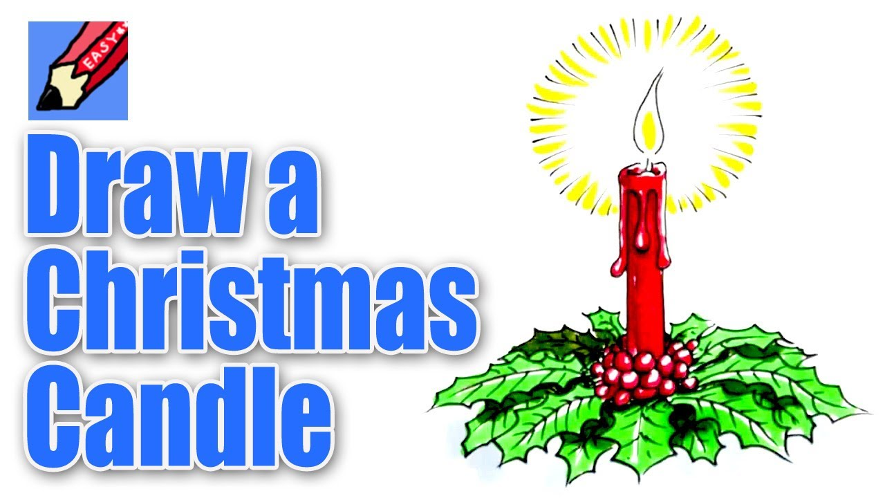 Drawn candle christmas candle #10