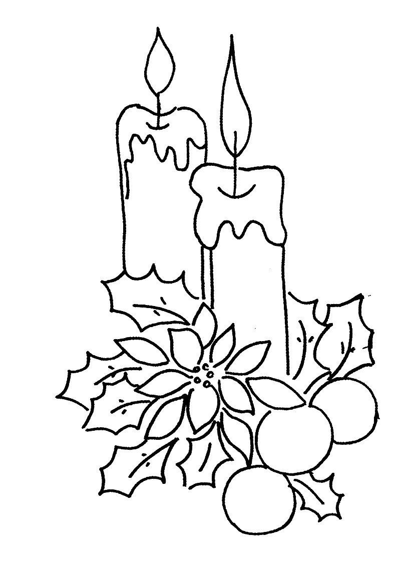 Drawn candle christmas candle #12
