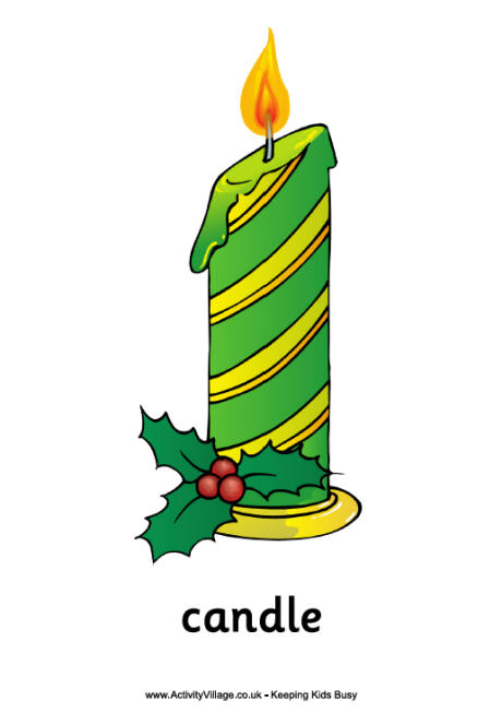Drawn candle christmas candle #2