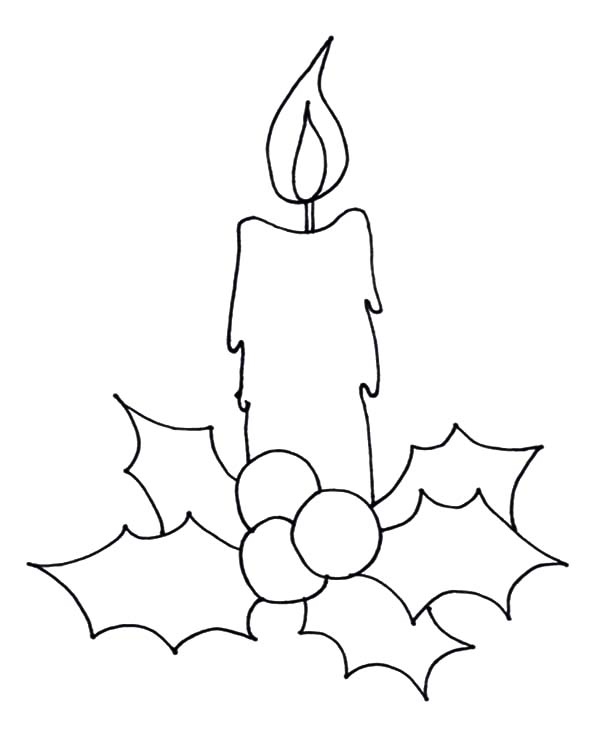 Drawn candle christmas candle #3