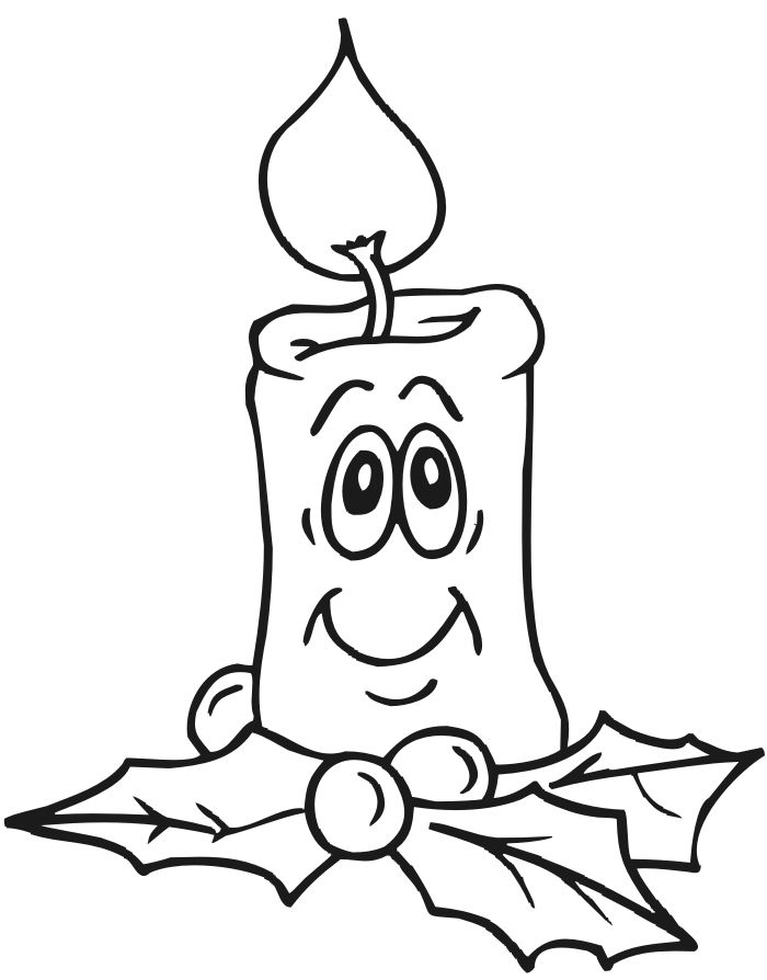 Drawn candle coloring page Pages & Coloring: Candles Pinterest