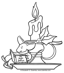 Drawn candle coloring page  page sunday Coloring Page