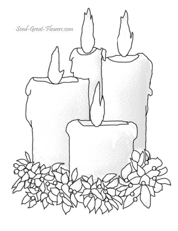 Drawn candle coloring page Images Pin Candles pages Christmas
