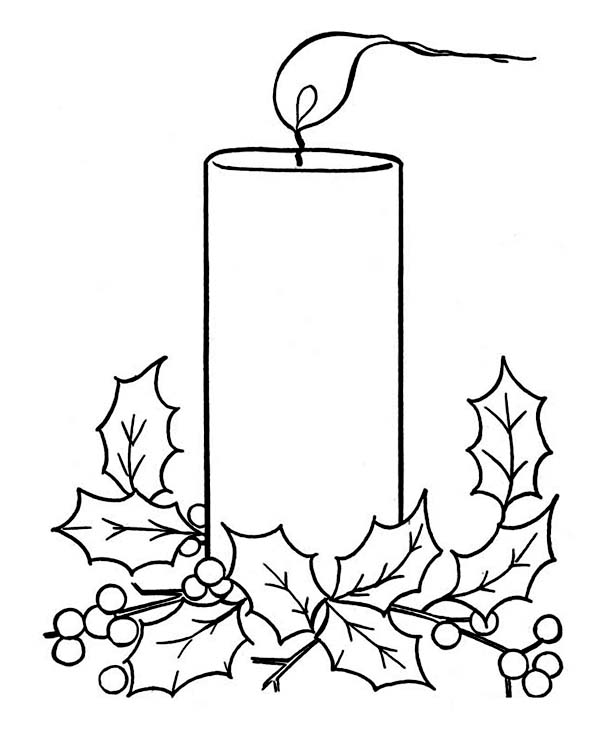 Drawn candle coloring page Pages com Coloring Pages Candle