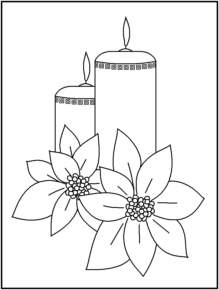 Drawn candle coloring page Candles candles images of Coloring