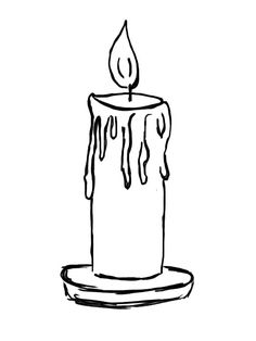 Candle clipart coloring page Pages: Pinterest drawing Candle candle