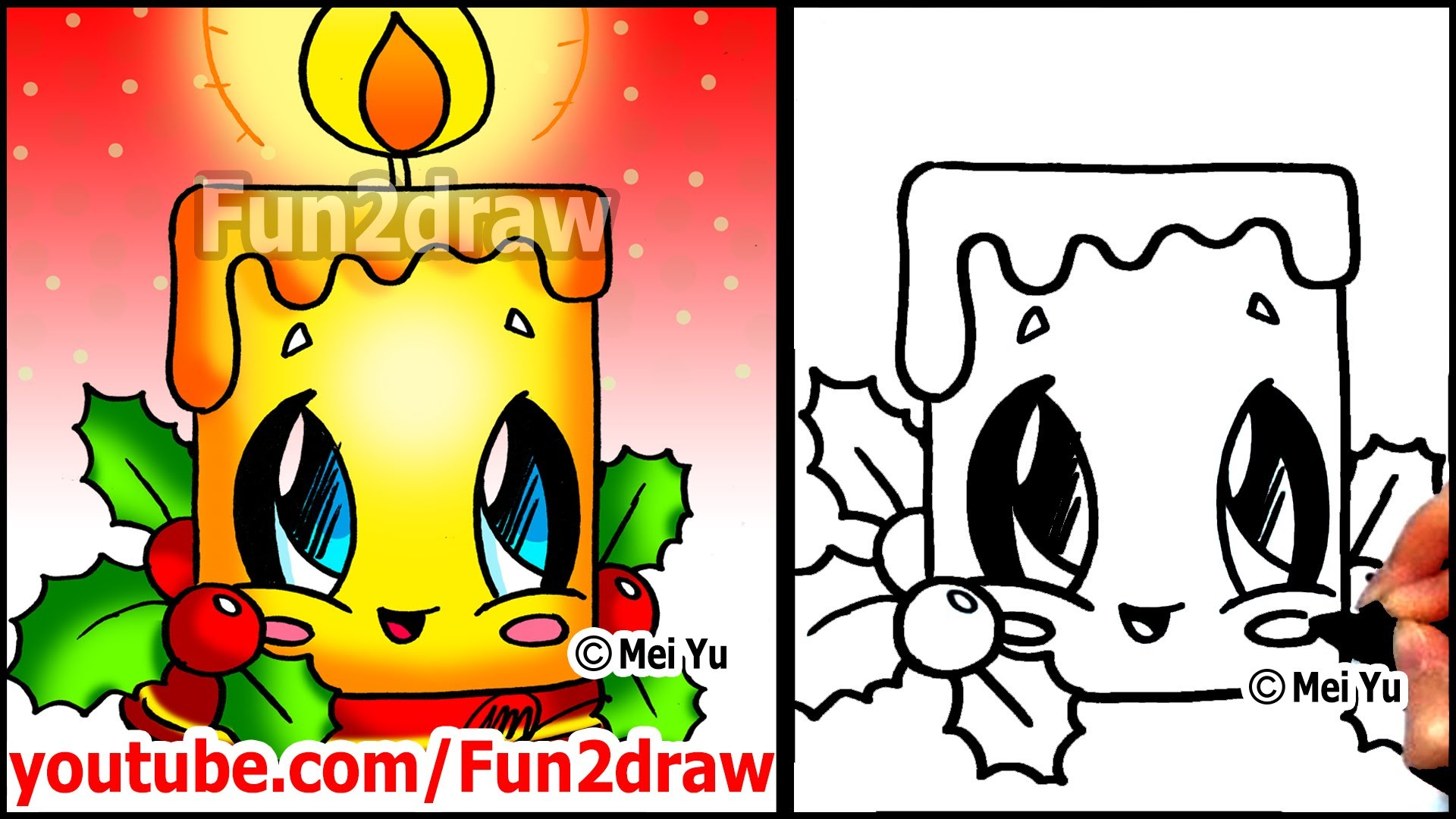 Drawn snowflake fun2draw Christmas Draw Christmas to Pictures