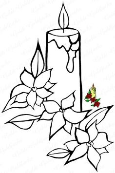 Drawn candle flower #4