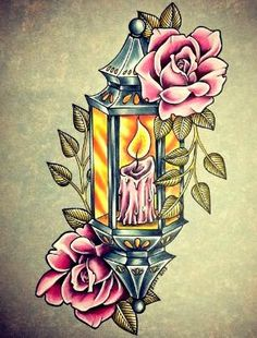 Drawn candle flower #10