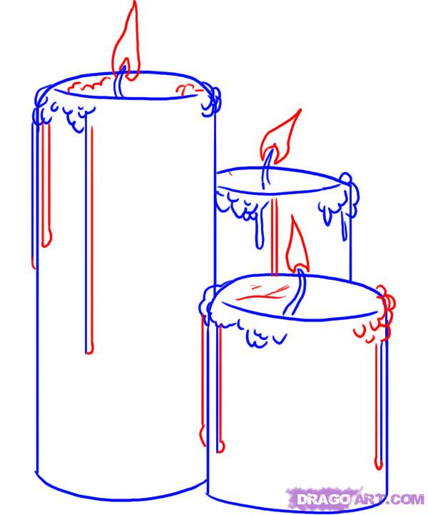 Drawn candle quick #12