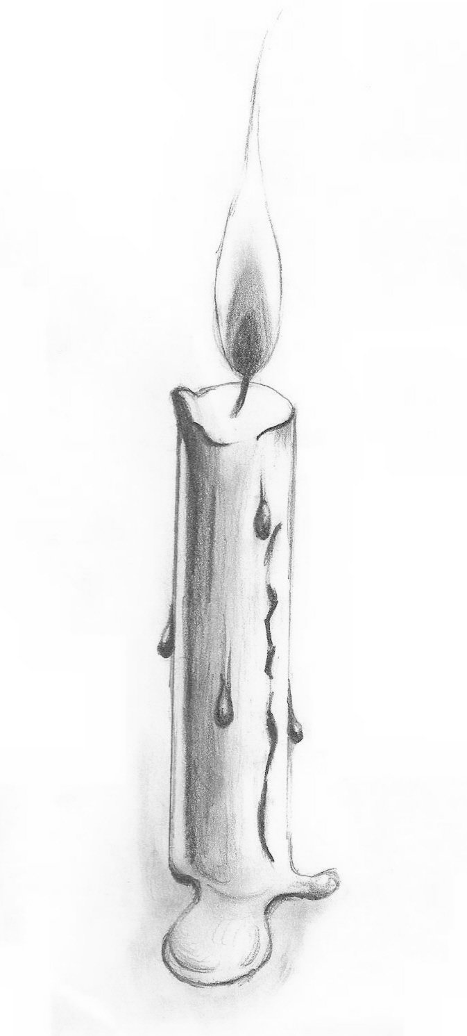 Drawn candle quick #8