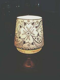 Drawn candle shade #9
