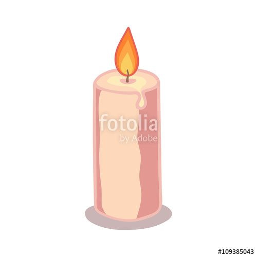 Drawn candle simple #6