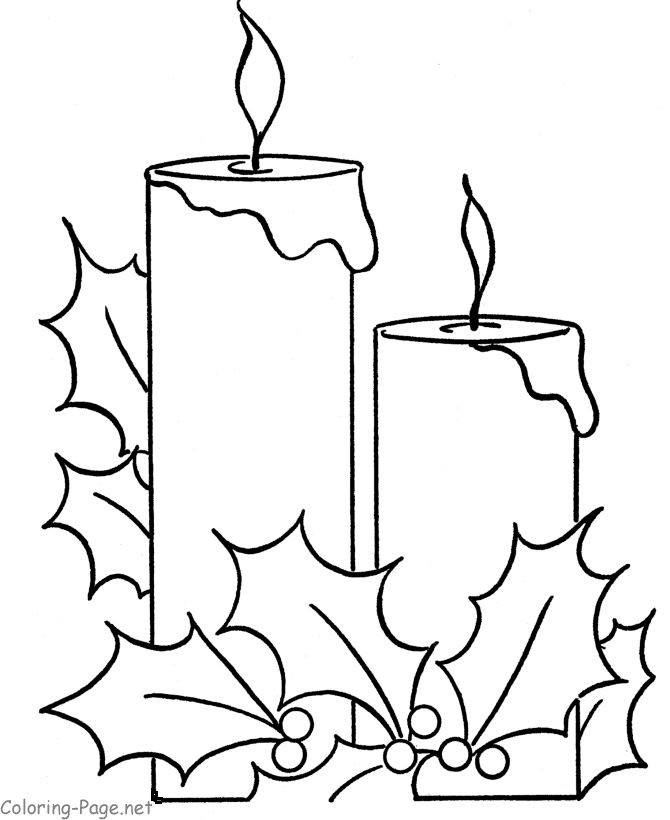 Drawn candle simple #8