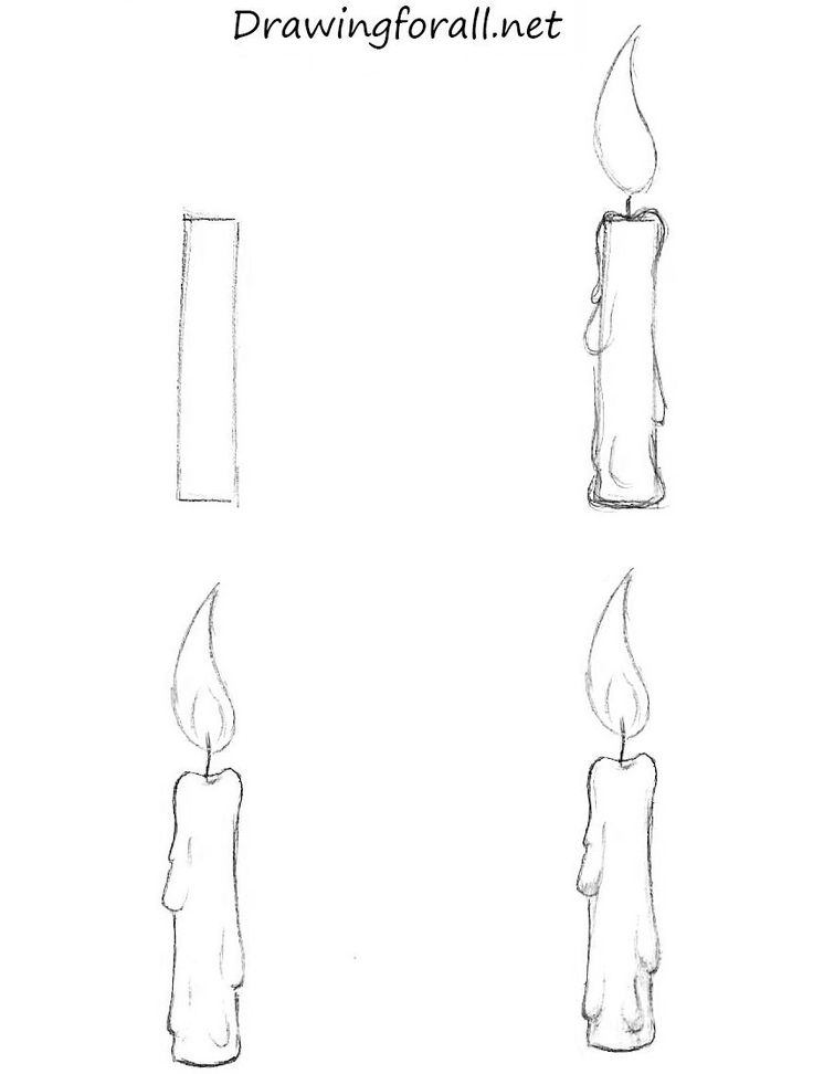 Drawn candle simple #5