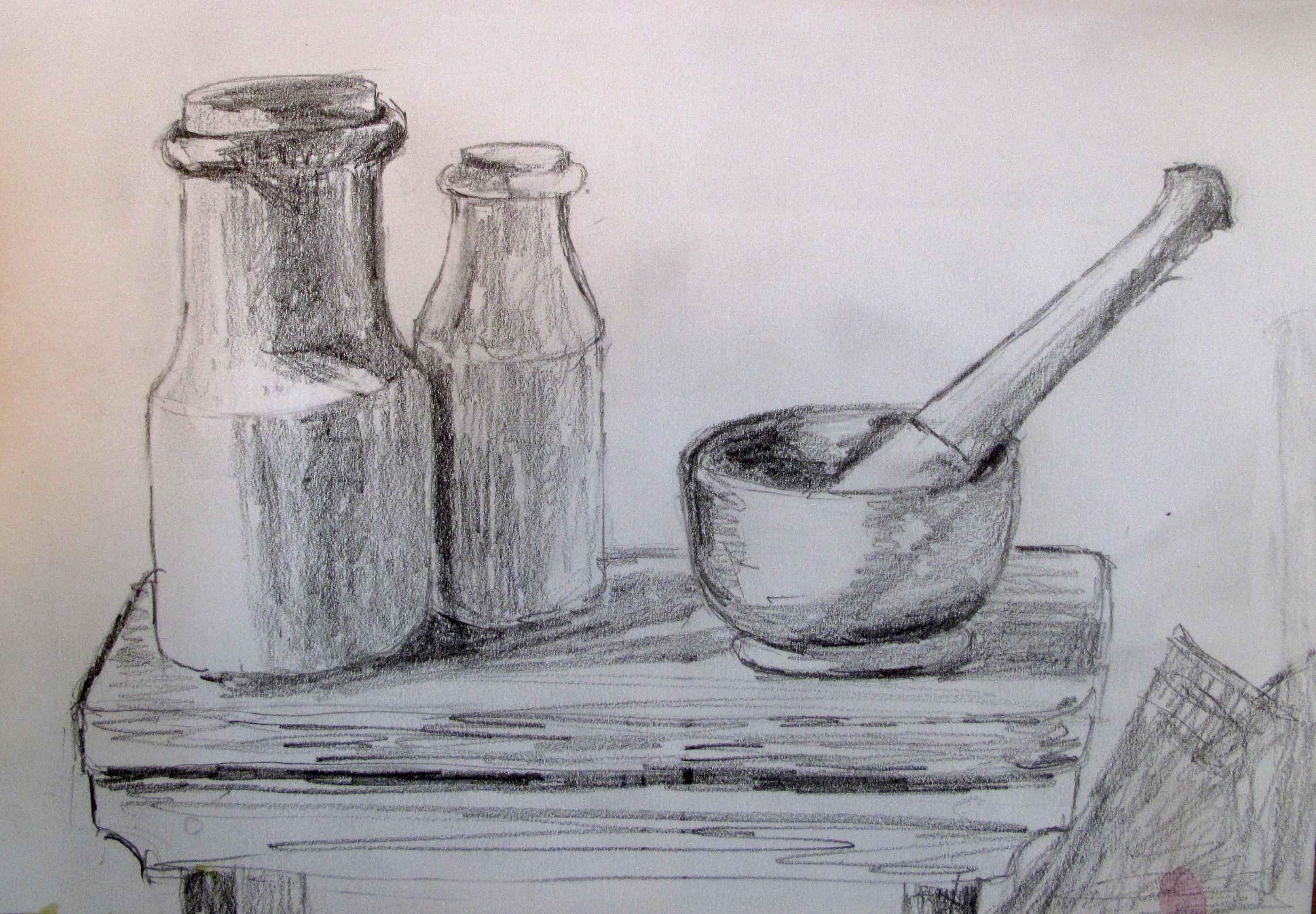 Drawn candle tonal Mark drawing establish tone to
