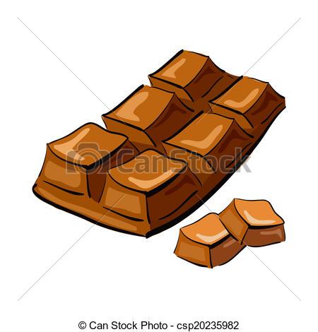 Drawn chocolate chocolate bar #5