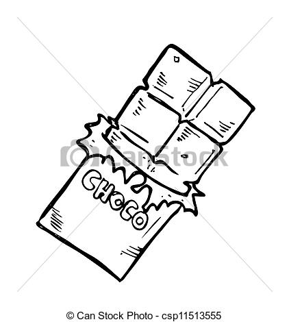 Candy Bar clipart black and white  Search Chocolate bar doodle