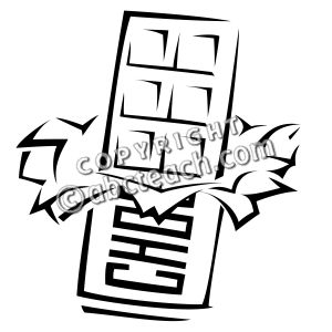 Candy Bar clipart black and white Candy Kids  Coloring Bar