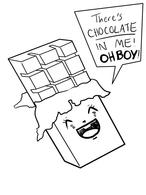 Drawn chocolate chocolate bar #6