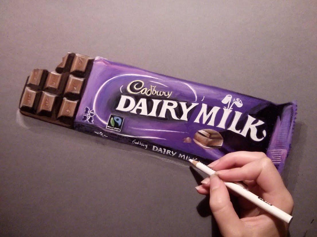 Drawn chocolate Bar  Drawing a chocolate
