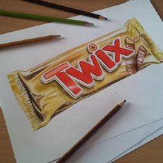 Drawn chocolate Bar Food #artist #vorkurs Realistic