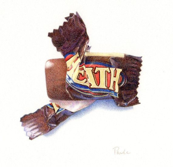 Drawn sweets pencil drawing Still of life 161 PRINT