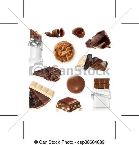 Candy Bar clipart sweet food Bar cookies bar set pieces