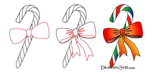 Drawn candy candy cane #3
