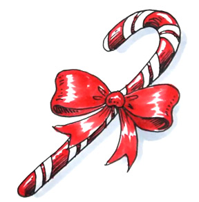 Drawn candy candy cane #12