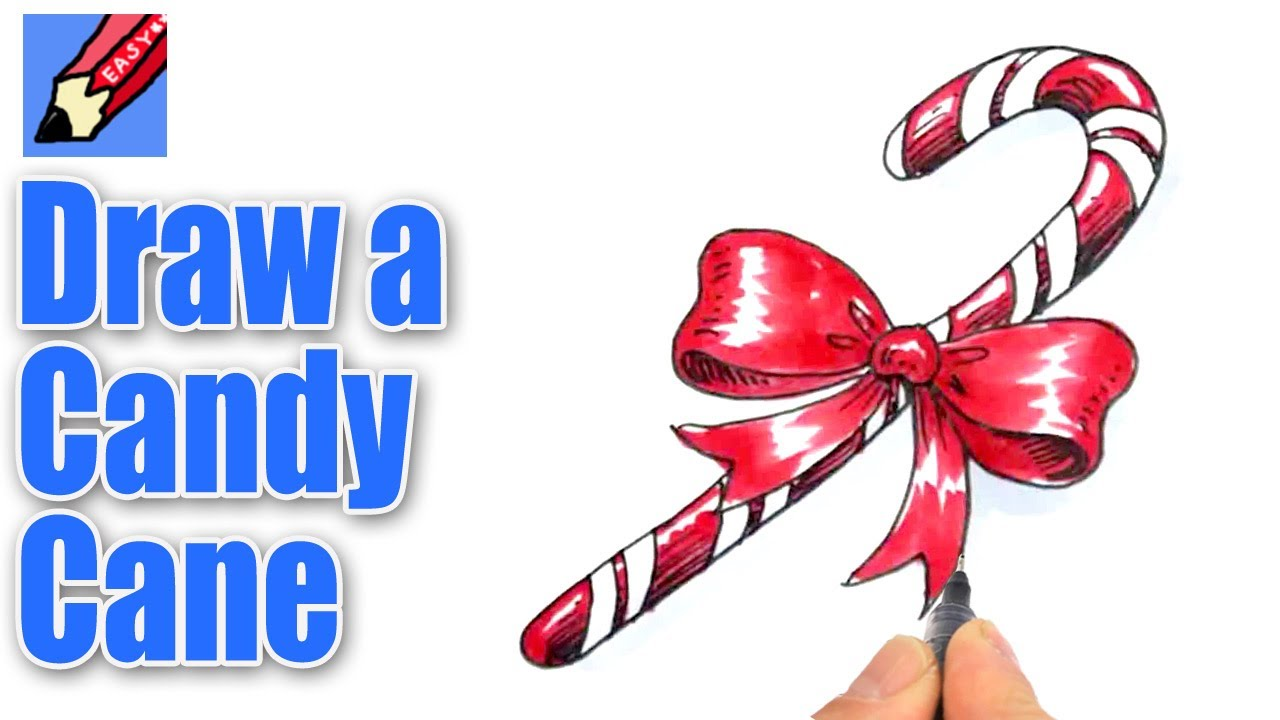 Drawn candy candy cane #9