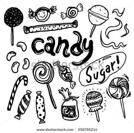 Drawn candy doodle #3