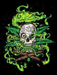 Drawn cannabis badass #8