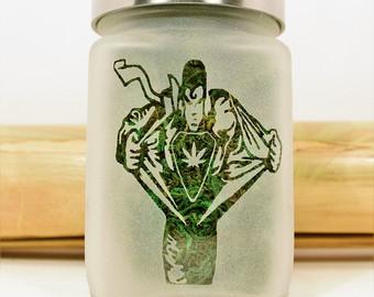Drawn cannabis superman #9