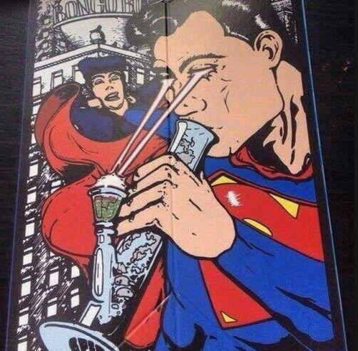 Drawn cannabis superman #4