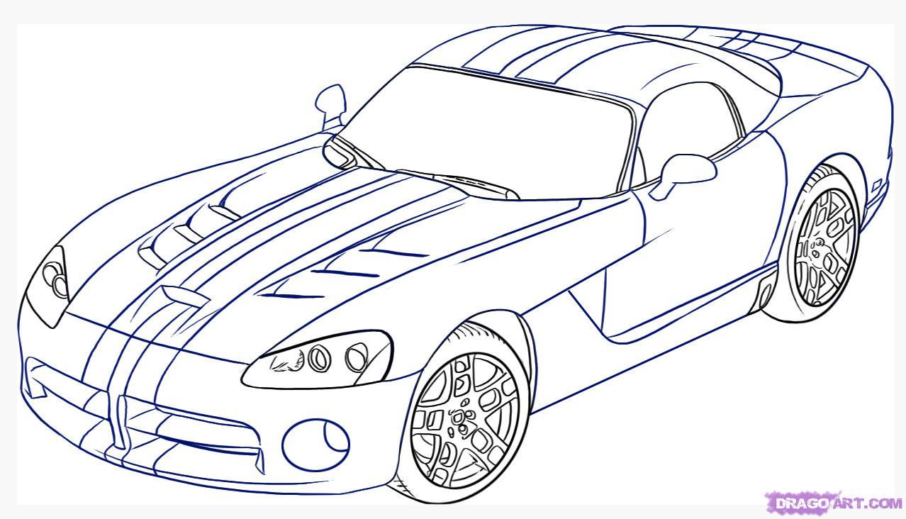 Drawn vehicle doodle Viper Step step Step How