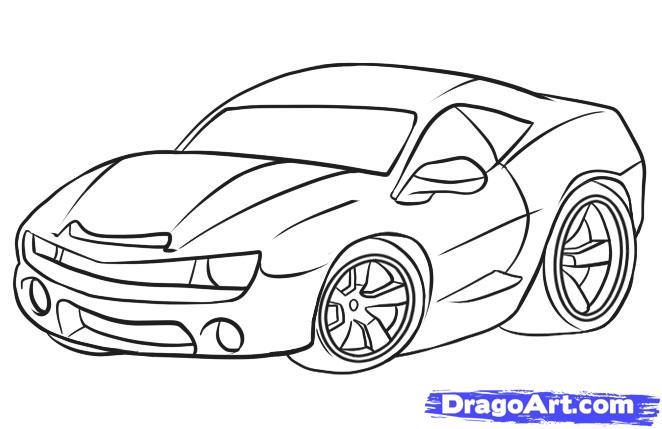 Drawn car Car by 6  to