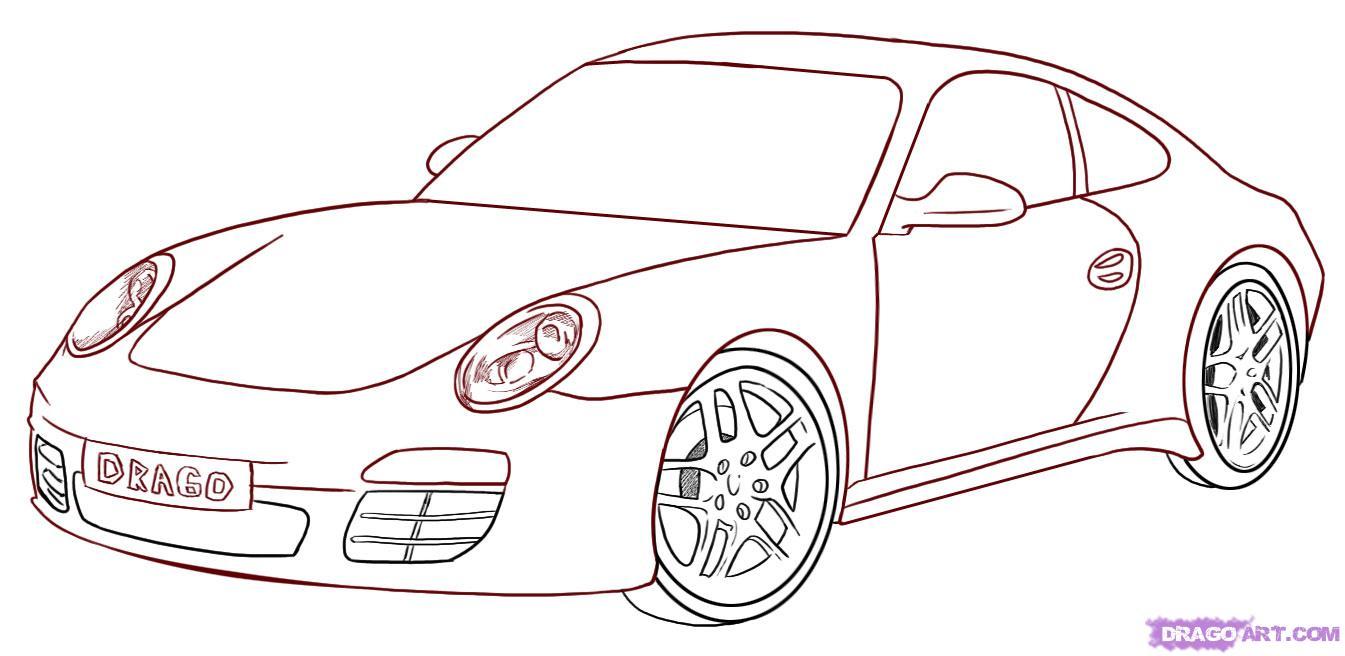 Drawn car Draw porsche 6_1_000000007075_5  1