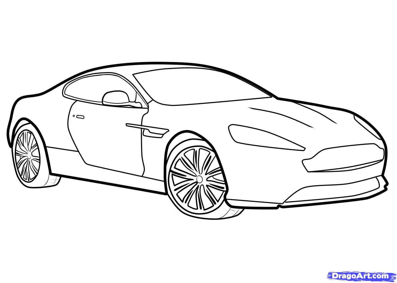 Drawn car How Draw aston Virage virage