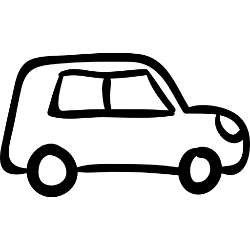 Drawn car Vehicle transport icon hand Free