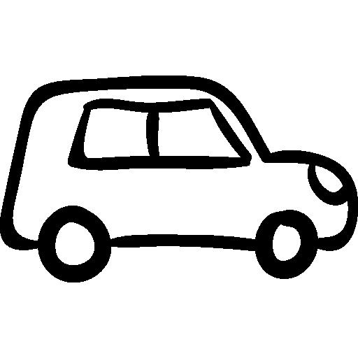 Drawn car Vehicle transport icon hand Free