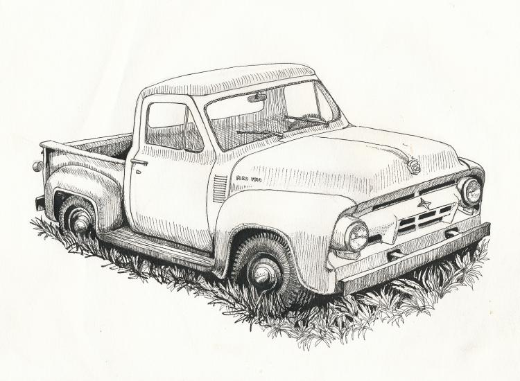 Drawn truck awesome truck Ford Pinterest Ford old Old