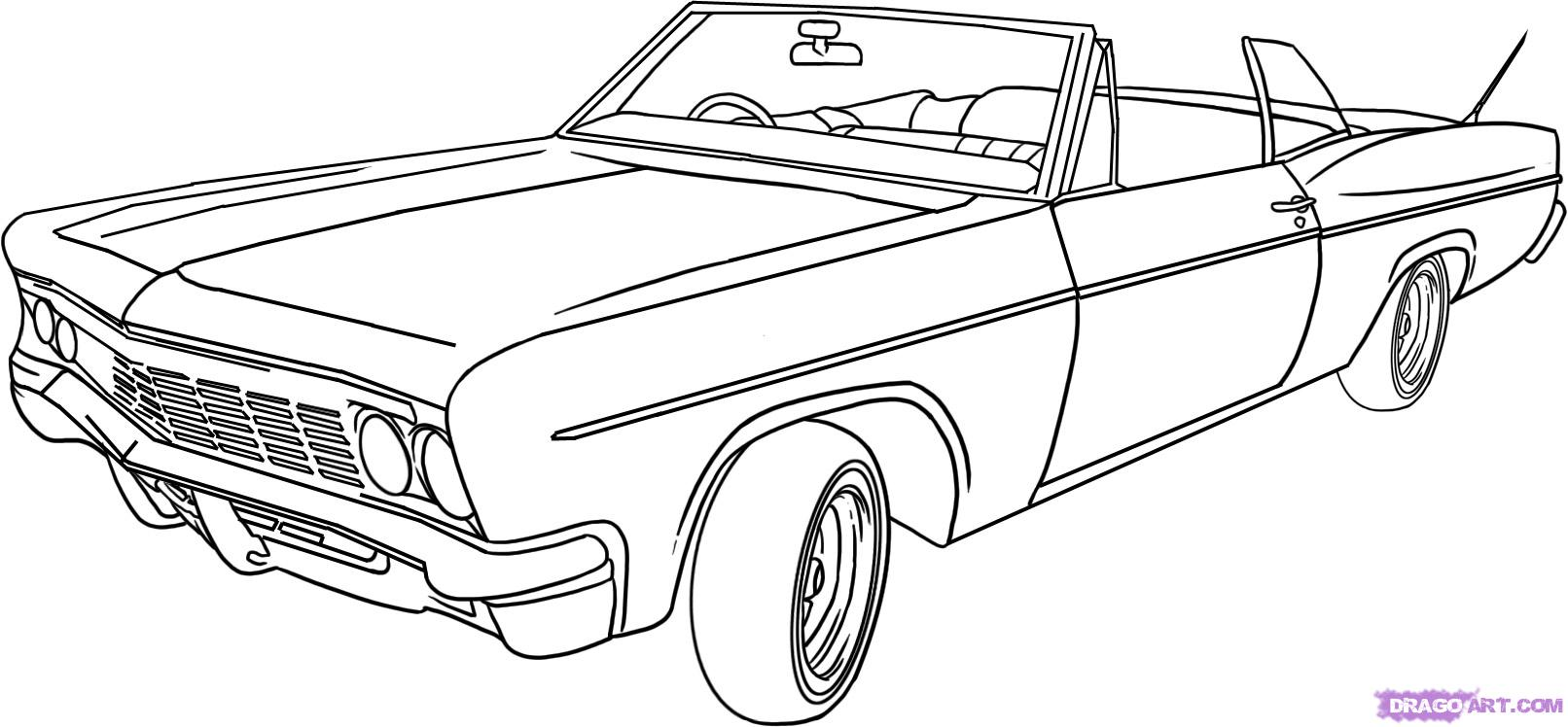 Drawn vehicle lowrider 6 How Online Draw Draw