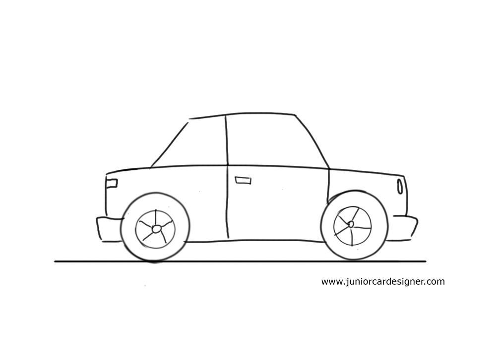 Drawn car For Kids Very Car Little