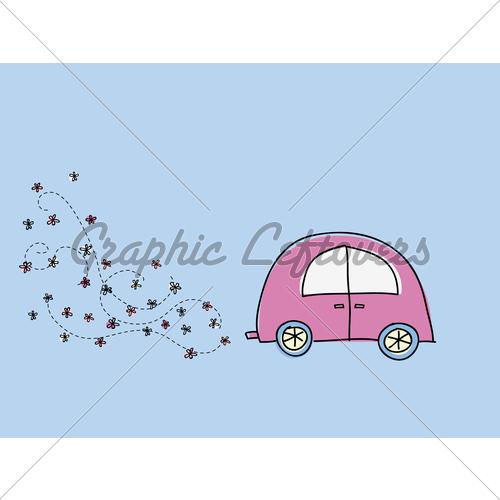 Drawn car car pollution #4