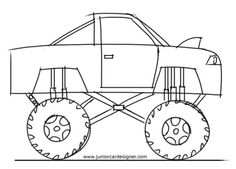 Drawn truck awesome truck Cartoon monster race car Learn