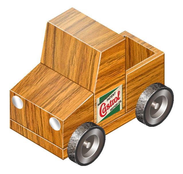 Drawn car toy car Enhanced in grain toy Year