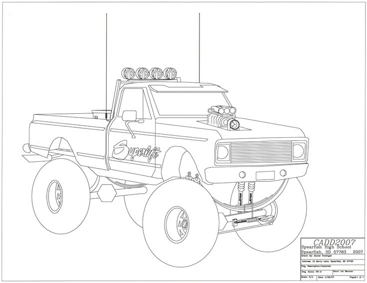 Drawn truck chevy Mrs 2 a activity Drawings
