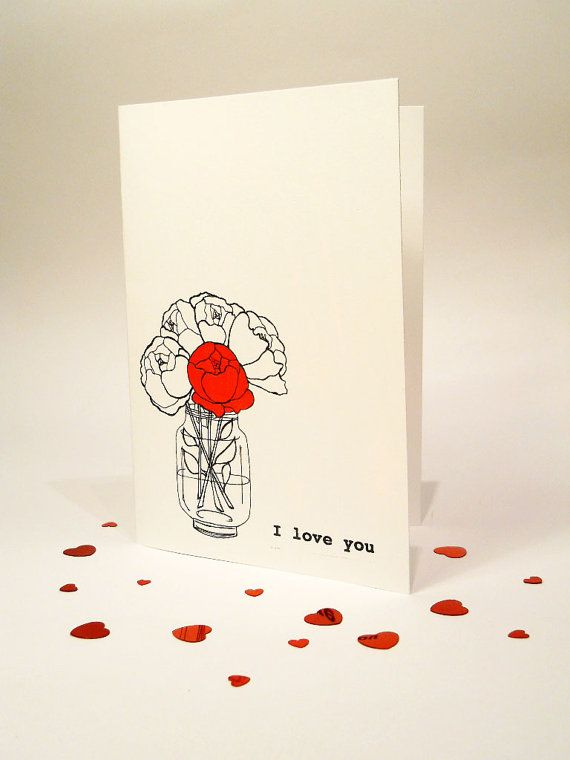 Drawn card Card Valentines drawn card Day